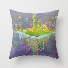 Aeolus 's flying island Throw Pillow
