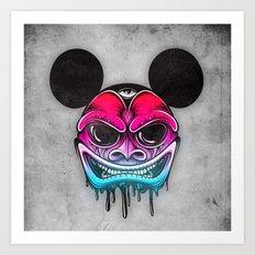 Evil Mickey Art Print