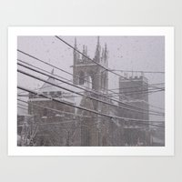 Snow Crossed Castle Art Print