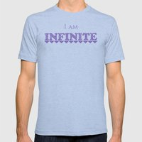 I Am Infinite Mens Fitted Tee Athletic Blue SMALL