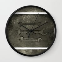 Dad used to make things (triptych one) Wall Clock