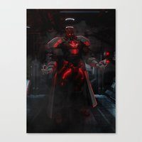 Mecha Series // Bison Canvas Print
