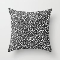 staklo (grays) Throw Pillow