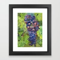 Grapes Watercolor | Wine Lovers Framed Art Print