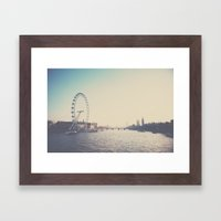 looking back ...  Framed Art Print