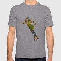 Derby Girl Mens Fitted Tee Athletic Grey SMALL