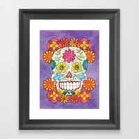 Day of the Dead Sugar Skull Framed Art Print