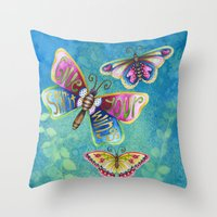 Give Your Spirit Wings  Throw Pillow