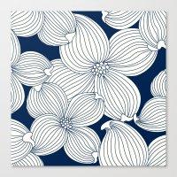Dogwood Big Linear Flora… Canvas Print