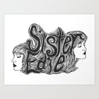 Sister Edie Art Print