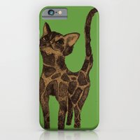 iPhone & iPod Case featuring Giraffe Cat. by MorningMajor