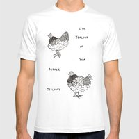 Jealous Chicken (1) Mens Fitted Tee White SMALL