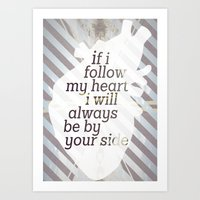 Following Heart Art Print