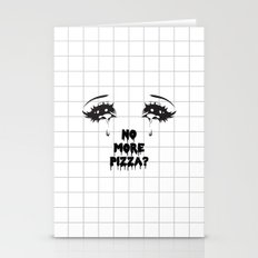 NO MORE PIZZA Stationery Cards