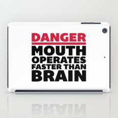 Mouth Faster Than Brain Funny Quote iPad Case