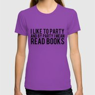 I Like To Party... Womens Fitted Tee Ultraviolet LARGE