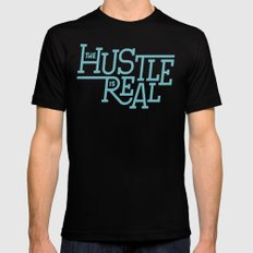The Hustle is Real SMALL Mens Fitted Tee Black