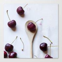 Cherry On A Spoon Canvas Print
