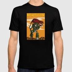 Machine Revolution SMALL Mens Fitted Tee Black