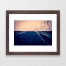 Lost Highway Framed Art Print