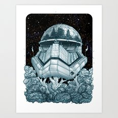 Stormtrooper Treehouse Art Print