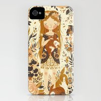 iPhone 4s & iPhone 4 Cases featuring The Queen of Pentacles by Teagan White
