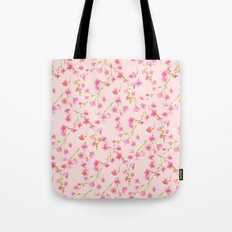Cherry Blossoms Pink on Pink (For Mackenzie) Tote Bag