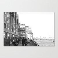 Cologne Harbour Canvas Print