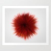 Red Fuzz Art Print