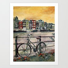 Going Dutch (blue) Art Print