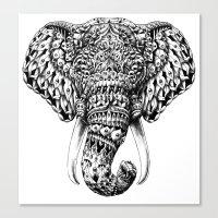 Ornate Elephant Head Canvas Print