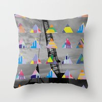 Postcard Throw Pillow