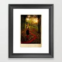 Lizzie Nunnery In The Ga… Framed Art Print