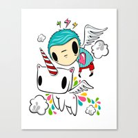 Polypop The Unicorn Canvas Print
