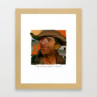 Framed Art Print featuring Dean  by Tony Rodriguez