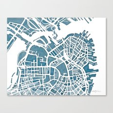 Boston Blueprint Canvas Print