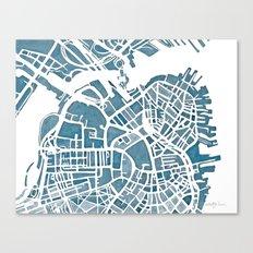Boston Blueprint Canvas Print