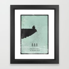 Pirates of the Caribbean 3 - At World's End - minimal poster Framed Art Print