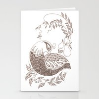 Stationery Card featuring Partridge by PiqueStudios