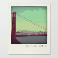 Golden Gate Bridge from Marin Canvas Print