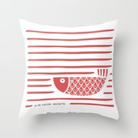 PIXE 2 (light red) Throw Pillow