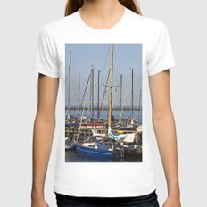 Sailboat Marina - Warnem… Womens Fitted Tee White SMALL