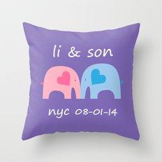 Li and Son Throw Pillow