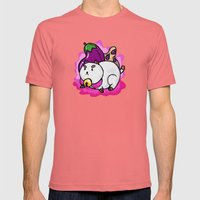 A Chubby Puppycat Mens Fitted Tee Pomegranate SMALL
