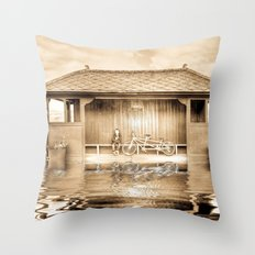 Shelter In The Floods  Throw Pillow