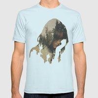 Lost In Thought Mens Fitted Tee Light Blue SMALL