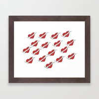 A Sailor's Love Interest (red) Framed Art Print