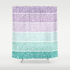 Riverside Colored Pebbles Shower Curtain