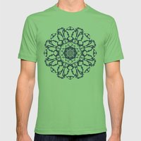 Abstract Mandala Mens Fitted Tee Grass SMALL