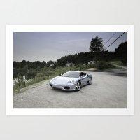 Ferrari 360 Modena Art Print